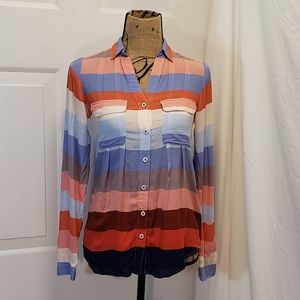 Maeve Striped button down top